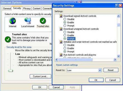Security setting